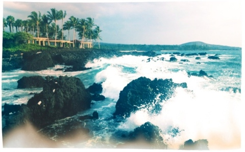 Seaside beach at Hualalai, Kona