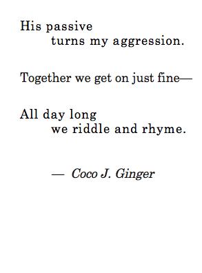 Passive Agressive Coco J. Ginger 12:22:13