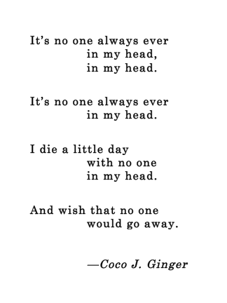 No One_Coco J. Ginger