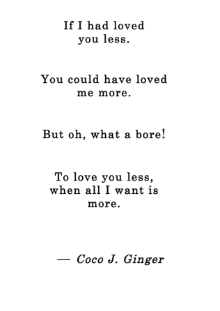 More Or Less Coco J. Ginger