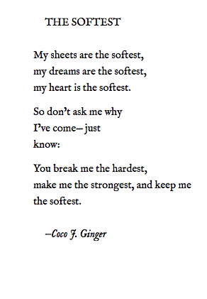 THE SOFTEST BY: COCO J. GINGER