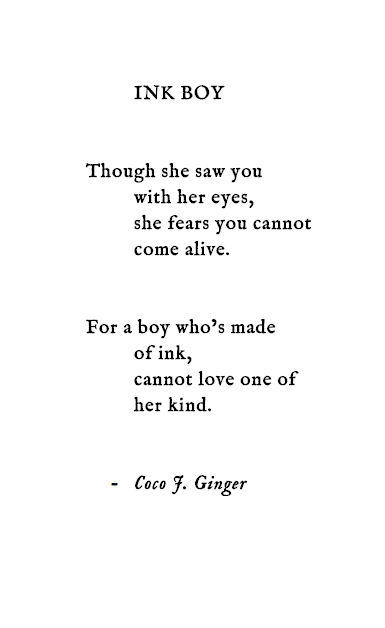 INK BOY Coco J. Ginger Poetry