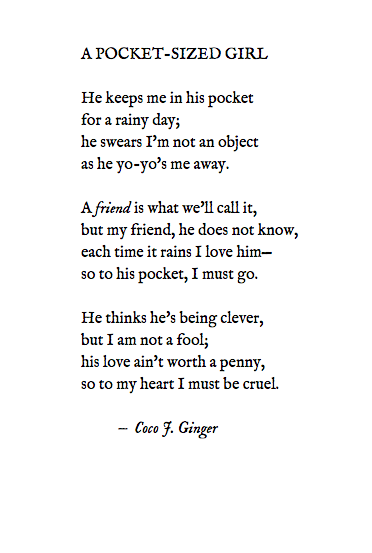 A POCKET-SIZED GIRL BY: COCO J. GINGER