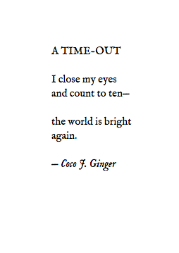 A TIME-OUT COCO J. GINGER POETRY