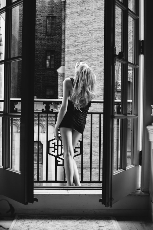 Black and white erotic photographs