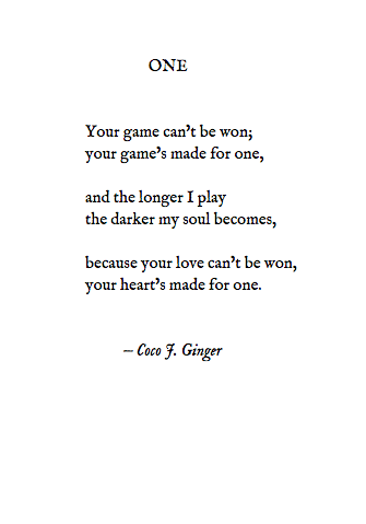 ONE BY: COCO J. GINGER