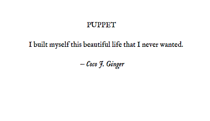PUPPET BY: COCO J. GINGER