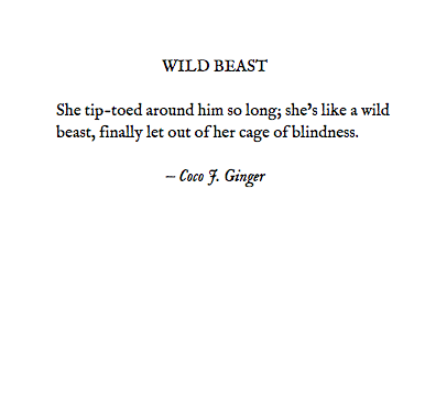 WILD BEAST BY COCO J. GINGER 1