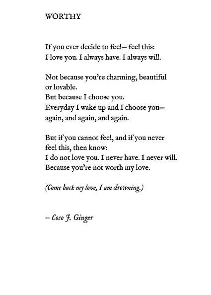 WORTHY BY: COCO J. GINGER