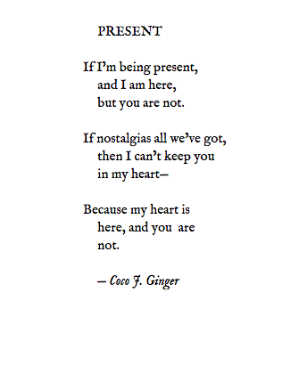 PRESENT BY COCO J. GINGER
