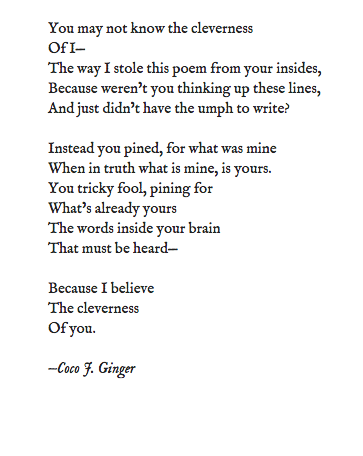 THE CLEVERNESS OF I P2 BY COCO J. GINGER
