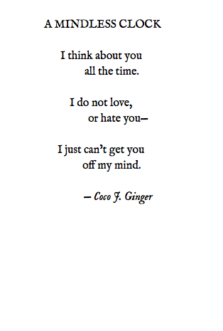 A MINDLESS CLOCK BY: COCO J. GINGER