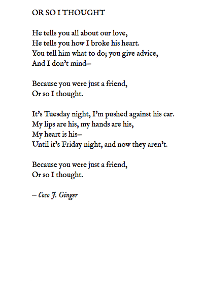 OR SO I THOUGHT BY COCO J GINGER