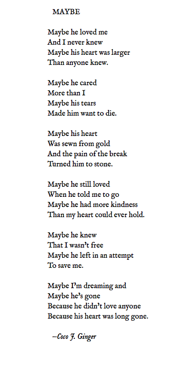 MAYBE BY COCO J GINGER