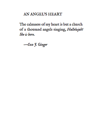 AN ANGEL'S HEART BY COCO J GINGER
